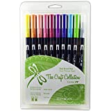 Tombow Dual Brush Pen Art Markers, Jellybean, 10-Pack