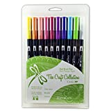 Tombow Dual Brush Pen Art Markers, Jellybean, 10-Pack