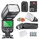 Neewer NW-565 EXC E-TTL Slave Speedlite Kit for Canon 5D II 7D, 30D, 40D, 50D,EOS 300D 350D 400D 1000D 500D 550D 600D 700D 100D 1100D/Rebel Rebel XT Xti XS T1i T2i T3i T5i SL1 T3 and all Other Canon Models,includes(1)NW-565C Flash +(1)Universal Mini Flash Bounce Diffuser Cap+(1)35-piece Color Gel Filters+(1)16 Channels Wireless Remote Flash Trigger+(4)LR Battery