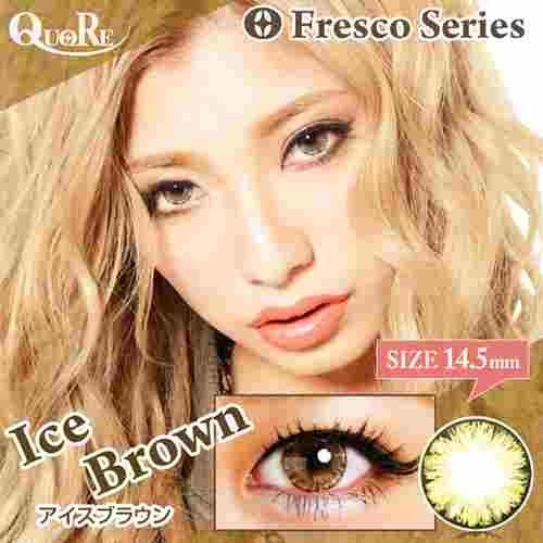 (Fresco(フレスコ)アイスブラウン Brown Lens Ice 度あり 14.5mm 1枚)