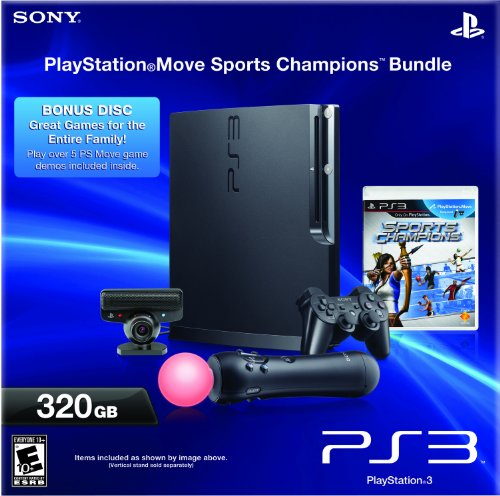 PlayStation 3 320GB Move Hardware Bundle