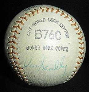 Buy Vin Scully Signed Vintage MacGregor Baseball COA Dodgers Auto'd Ball HOF - PSA DNA Certified -... by Sports Memorabilia