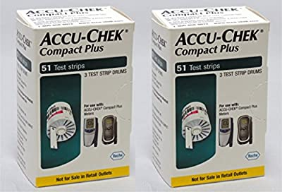 ACCU-CHEK Compact Plus 51 test strips, Pack of 4 exp: 4/30/2016