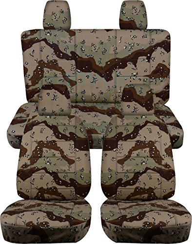 Jeep Wrangler JK (2011 to 2016) Camo Seat Covers: Desert Storm - Full Set (19 Prints Available) (Jeep Jk Seat Covers Camo compare prices)