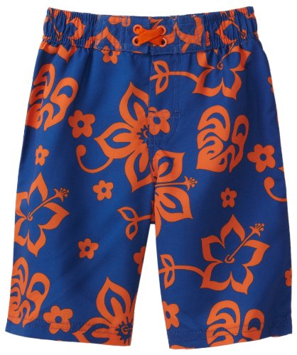 Ixtreme Baby-Boys Infant Large Hibiscus Printed Board Short, Royal, 18 Months