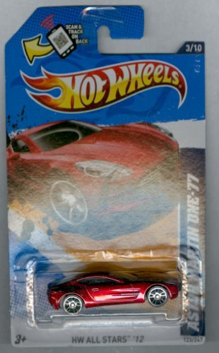 Hot Wheels 2012-123 HW All Stars '12 Aston Martin RED 1:64 Scale SCAN & TRACK Card - 1