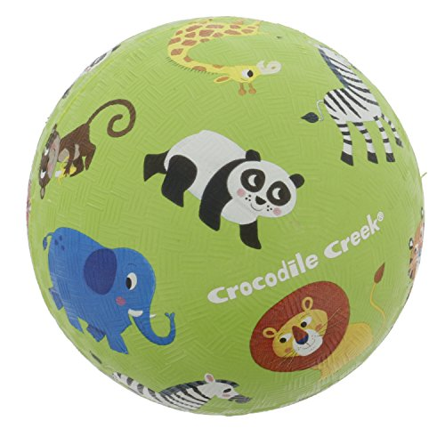 "Playground Ball - 5"" Rubber Sports Ball (Jungle Animals) - PVC, BPA, and Vinyl-Free"