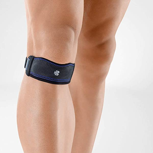 Bauerfeind - GenuPoint - Knee Strap - Support Patella & Patellar Tendon Relief for Runners, Jumpers Knee & Shin Splints - Size 3 - Color Black (Color: Black, Tamaño: 3)