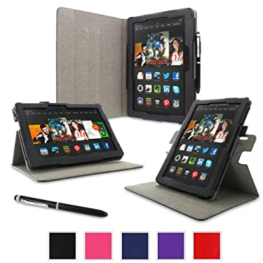 "rooCASE Case for Amazon All- Kindle Fire HDX 8.9 - Dual-View Folio Case HDX 8.9"" Tablet - BLACK"