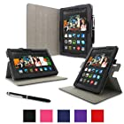 rooCASE Amazon Kindle Fire HDX 8.9 Case - (2014 Current Generation) Dual View Multi Angle Tablet 8.9-Inch 8.9 Stand Cover - BLACK