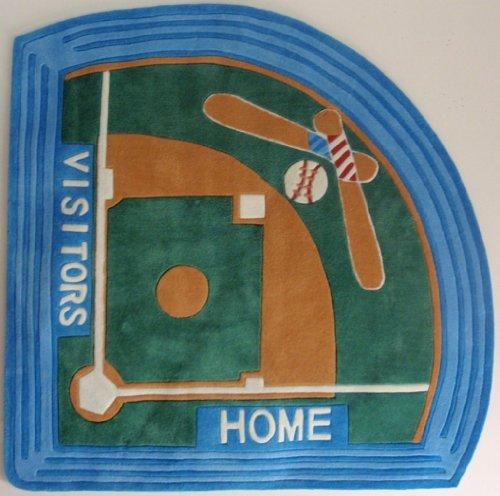 Baseball Stadium Sports Area Rug Baseball