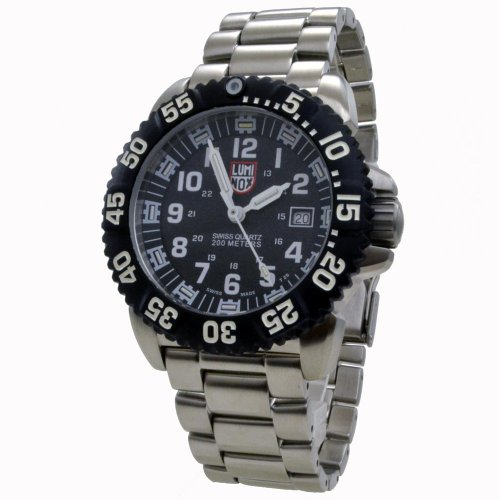 New best watches men luminox navy seal colormark black dial steel mens watch 3152 for Luminox watches