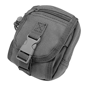 Condor Molle Gadget Pouch (Black, 6 x 4 x 4-Inch)