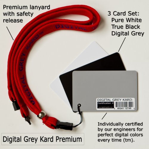 Digital Image Flow DGK Color Tools Premium White Balance Card Set with Premium Lanyard (Set of Three Cards)