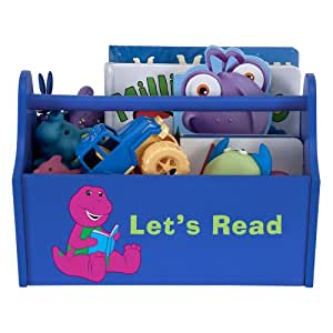 Amazon.com: PBS KIDS Barney Royal Blue Reading Toy Caddy: Toys & Games