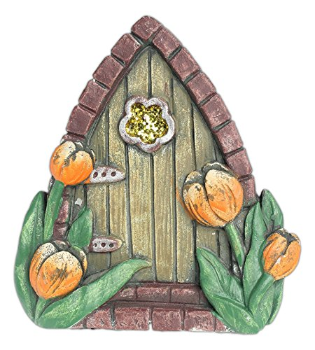 New set of 4 mayrich assorted whimsical fairy door garden for Whimsical garden statues