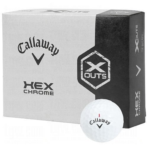 Callaway Hex Chrome X-Out Golf Balls 1 Dozen