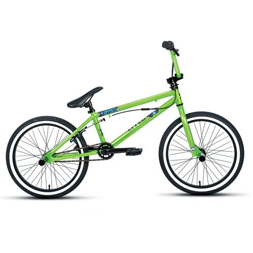 Racing 20 BMX Bikes 25/9 gearing setup steel freestyle U-brake 175 lbs Green