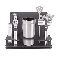 Oggi Pro Stainless-Steel 10-Piece Cocktail Shaker and Bar Tool Set by Oggi