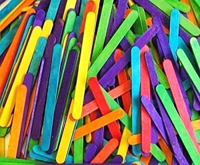 50 Coloured Standard Lolly Sticks