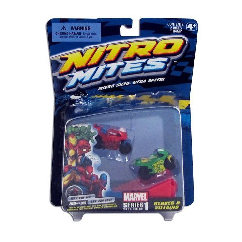 Nitro Mites Marvel Series 1 Heroes & Villains Mini Vehicle 2-Pack - 1