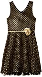 Speechless Big Girls' Tank Dress with Foil Dots and Floral Belt