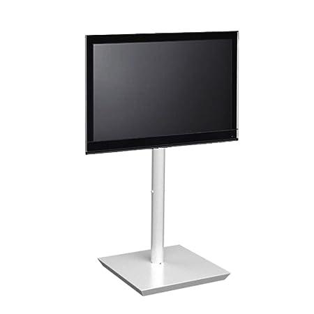 """L&C Handy Spring Mobile per TV da 32"""" a 55"""", 140-170 cm, Bianco Raggrinzito"""