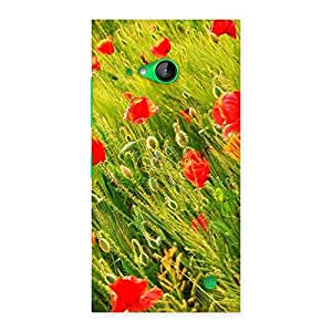 Cute Beauty Flowers Farm Back Case Cover for Lumia 730