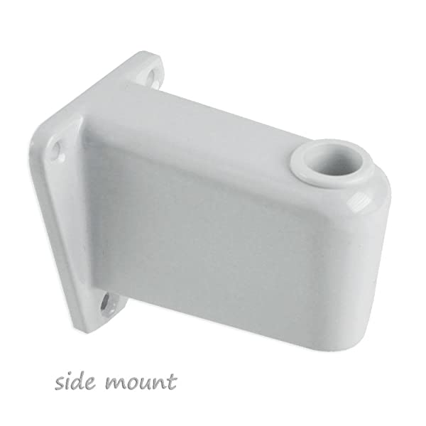 Magnifier Lamp Work Light Mounting Bracket Clamp - Choose from 4 Styles (Color: White, Tamaño: Side mount)
