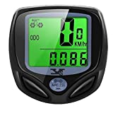 SY Bicycle Speedometer and Odometer Wireless Waterproof Cycle Bike Computer with LCD Display & Multi-Functions by YS (Color: 368C-B)