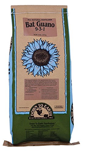 Down To Earth Organic Bat Guano 9-3-1 Fertilizer, 10-Pound