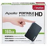 Imation USBポータブルハードディスクドライブ 160GB スリム&コンパクトボディ Apollo PHDD-160GB