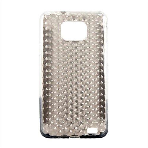 NEU Diamond DESIGN TPU Silikon Schutzhülle Rückschale passgenau für Samsung Galxy S2 i9100 in Farbe Weiß