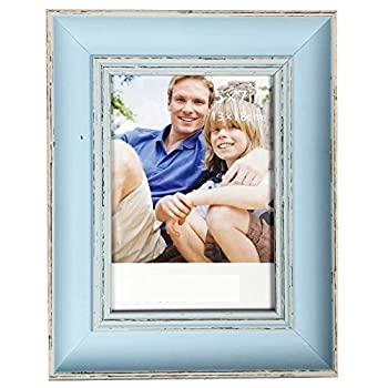 Intco Lilian PC Desktop Photo Frames Blue Retro Do Old Photo Frame Choose PS Polymer Material Environmental Protection, Light Blue