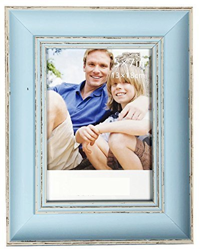 Intco Lilian PC Desktop Photo Frames Blue Retro Do Old Photo Frame Choose PS Polymer Material Environmental Protection, Light Blue 0