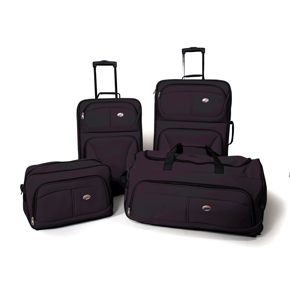 American Tourister Fieldbrook 4 Piece Luggage Set, Black, One size $56.95