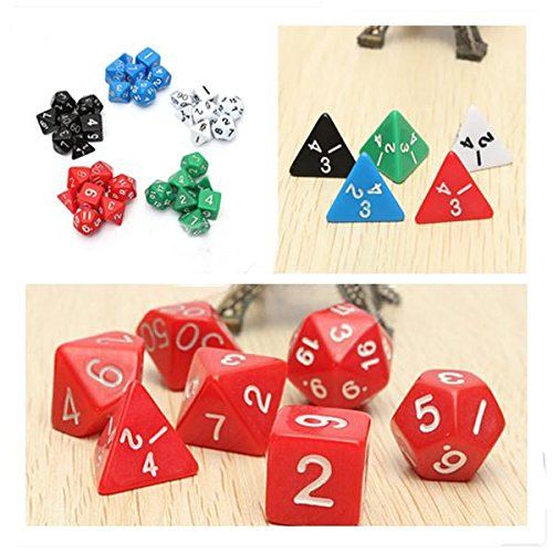 Dungeons And Dragons Game D4 D6 D8 D10 D12 D20 Dice Game Dice Set Color- White