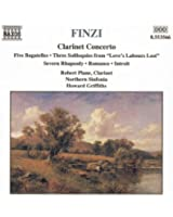 Finzi: Clarinet Concerto / Five Bagatelles / Three Soliloquies / Romance
