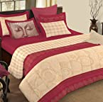 Red 5pc King XL Bedsheet Set 400TC