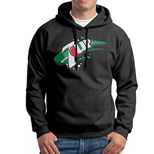 7 UP Logo Hoodie For Men Size L Black (Alex And Ani Chicken compare prices)