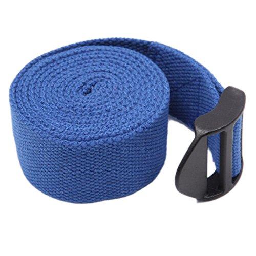 Sportsrain Cinch Buckle Cotton Yoga Strap Length 183cm Width 3.8cm Blue