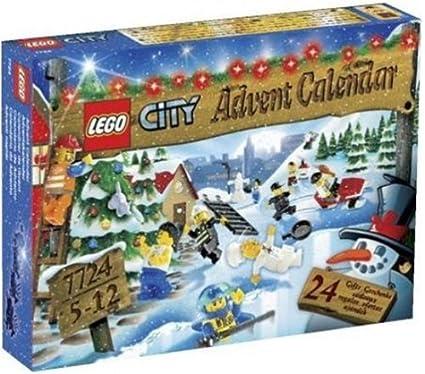 Lego - 7724 - Jeu de construction - LEGO City - Le calendrier de l'Avent LEGO City
