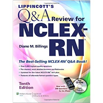 Set A Shopping Price Drop Alert For Lippincott's  Q&A Review for  NCLEX-RN® (Lippincott's Q&A Review for NCLEX-RN (W/CD))
