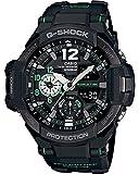 G-Shock Men's GA-1100 Gravitymaster Watch, Black/Silver, One Size