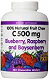 Natural Factors Vitamin C Blueberry, Raspberry, Boysenberry Chewables 500mg Wafers, 180-Count