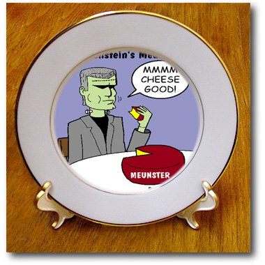 Cp_2361_1 Rich Diesslins Funny Food Coffee Other Digestibles - Frankenstein S Meunster - Plates - 8 Inch Porcelain Plate