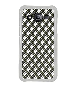 ifasho Colour Full Square Pattern Back Case Cover for Samsung Galaxy J2