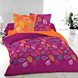 Arabella (Cyclamen) - SoulBedroom 100% Cotton Bed Set (Duvet Cover 260x220 & 2 Pillow Cases 50x75) (Super King)
