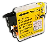 The Ink Squid 1 X Lc985Y Yellow High Capacity Compatible Ink Cartridge For Brother Dcp-J315W Printer
