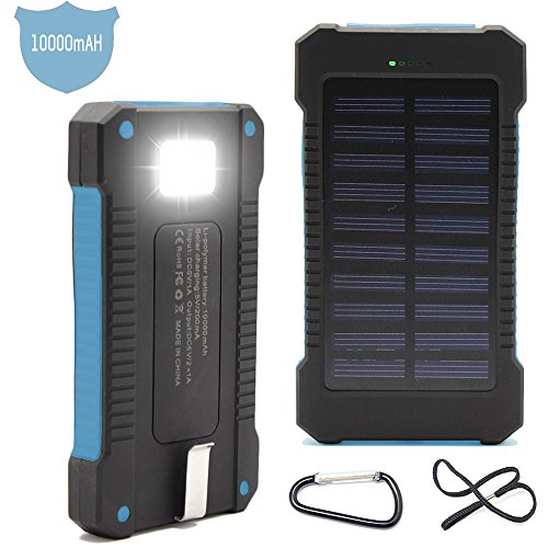 Solar Charger Battery Matone® Portable 10000mAh Solar Battery Charger Shockproof for these Portable Bluetooth Speaker Reviews - Big Sound Small Budget Portable Wireless Speaker Reviews